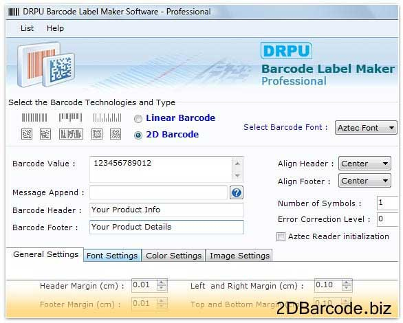 Maxicode Barcode Generator tool design rolls
