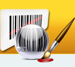 MICR code generator create 2D bar code label tag databar